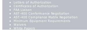 Letters of Authorization
